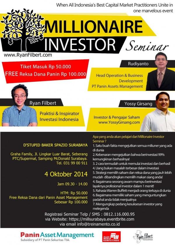 Acara Millionaire Investor Surabaya
