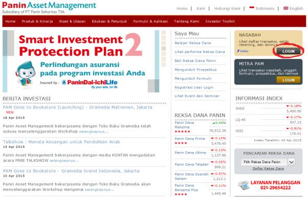 Log In di Website