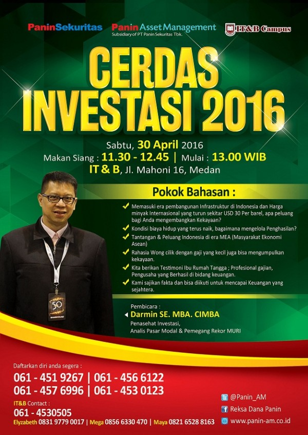 Cerdas Investasi Medan 2016