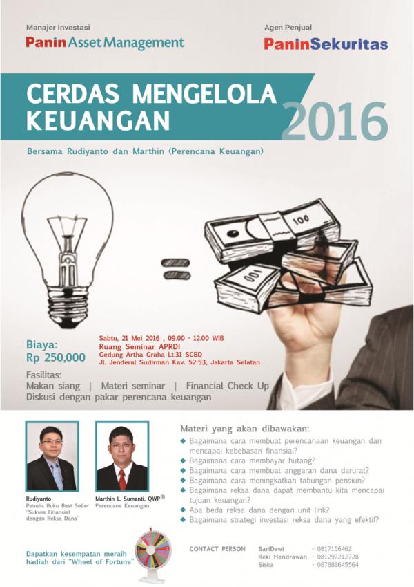 Cerdas Mengelola Keuangan Jakarta Mei 2016