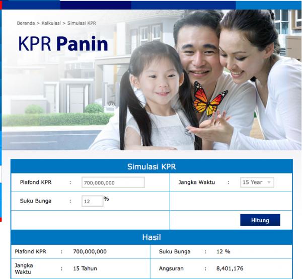 Simulasi KPR Bank Panin
