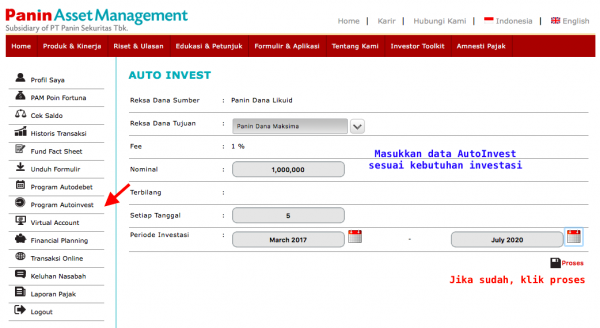 AutoInvest Online Panin AM